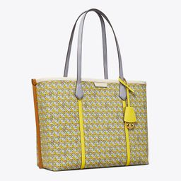 Perry Printed Canvas Triple-Compartment Tote Bag | Tory Burch (US)
