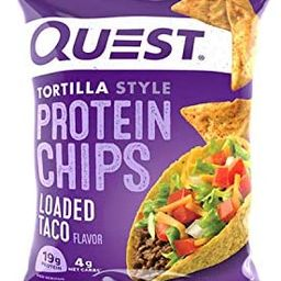 Quest Nutrition Tortilla Style Protein Chips, Loaded Taco, Low Carb, Gluten Free, Baked, 1.1 Ounc...   Amazon (US)