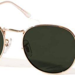 TIJN Classic Round Sunglasses Polarized Lens with UV400 Protection for Women Men | Amazon (US)