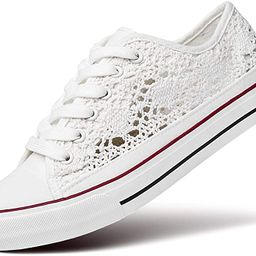 ZGR Women's Fashion Canvas Sneakers Mesh Knitted Upper Low Cut Casual Shoes   Amazon (US)