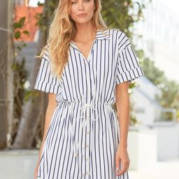 Navy Stripe Shirt Dress | Cabana Life