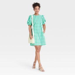 Women's Puff Short Sleeve Dress - A New Day™ | Target