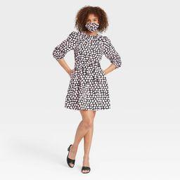 Women's Puff 3/4 Sleeve Shirtdress - Who What Wear™ | Target