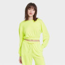 Women's Cropped Lounge Sweatshirt - Colsie Yellow XL   Target