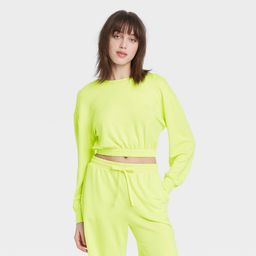 Women's Cropped Lounge Sweatshirt - Colsie™   Target