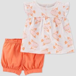 Baby Girls' Angel Fish Top & Bottom Set - Just One You® made by carter's White/Pink/Coral | Target