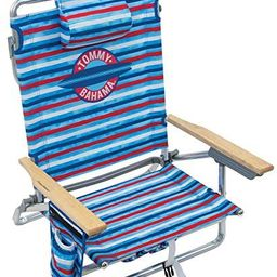 Tommy Bahama 5-Position Classic Lay Flat Folding Backpack Beach Chair | Amazon (US)