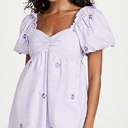 Floral Embroidery Babydoll Dress | Shopbop