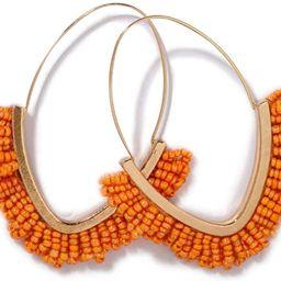 Beaded Dangle Earrings – V-shaped Beaded Earrings Statement Beaded Drop Fringe Earrings, Boho H... | Amazon (US)