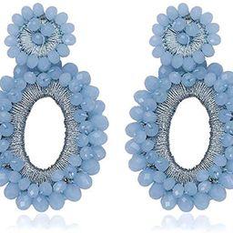 Statement Drop Earrings - Bohemian Beaded Teardrop Dangle Earrings Gift for Women | Amazon (US)
