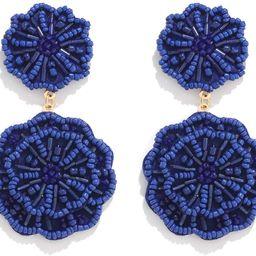 HSWE Statement Beaded Drop Earrings for Women Layered Bead Dangle Earrings | Amazon (US)