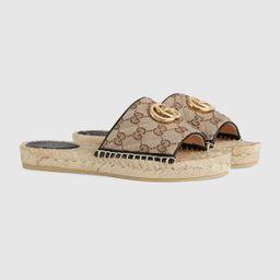 Women's GG matelassé canvas espadrille sandal   Gucci (US)