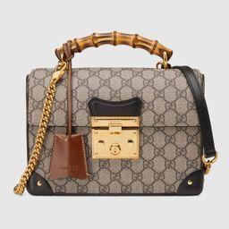 Padlock GG small bamboo shoulder bag | Gucci (US)