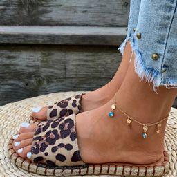 Leopard Print Espadrille Slide Sandals   SHEIN