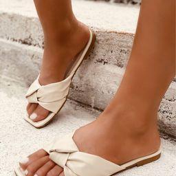 Knot Decor Slide Sandals   SHEIN
