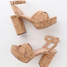 Selah Cork Ankle Strap Heels | Lulus (US)