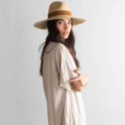 Isla Straw Fedora - Natural   Gigi Pip