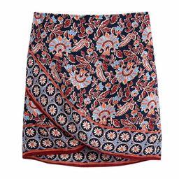 'Raze' Boho Floral Wrap Belted Skirt | Goodnight Macaroon