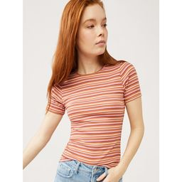 Free Assembly Women's Ribbed Crewneck T-Shirt with Short Sleeves | Walmart (US)