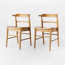 2pk Kaysville Curved Back Wood Dining Chair - Threshold™ designed with Studio McGee | Target
