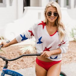 Starlight Love Sweater Patriotic   The Pink Lily Boutique