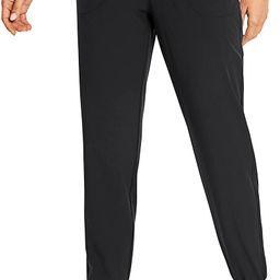 CRZ YOGA Women's Drawstring Lightweight Elastic Waist Joggers Pants Lounge Workout Running Sweatp... | Amazon (US)