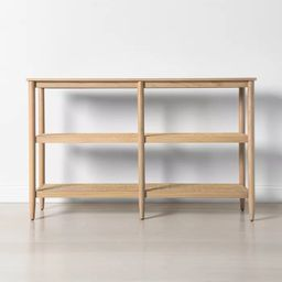 Short 3-Shelf Wood & Cane Bookcase - Hearth & Hand™ with Magnolia | Target