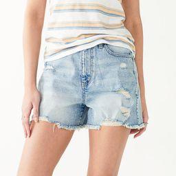 Juniors' SO® Comfortable High Rise Boyfriend Shorts | Kohl's
