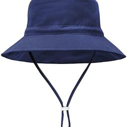 Baby Sun Hat UPF 50+ Sun Protective Toddler Bucket Hat Summer Kids Beach Hats Wide Brim Outdoor P...   Amazon (US)