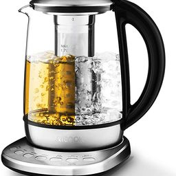 Aicook Electric Tea Kettle 1.7L Glass Teapot with One Touch Temperature Control, Food Grade Stain... | Amazon (US)