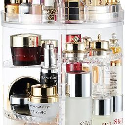 Makeup Organizer, 360 Degree Rotating Adjustable Cosmetic Storage Display Case with 8 Layers Larg... | Amazon (US)