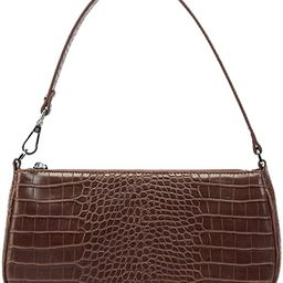 JW PEI 90s Shoulder Bag for Women Vegan Leather Crocodile Purse Classic Clutch Handbag | Amazon (US)