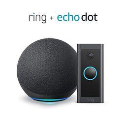 Ring Video Doorbell Wired bundle with Echo Dot (Gen 4) - Black | Amazon (US)
