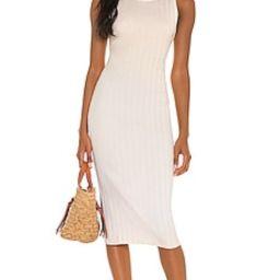 Rib Scoop Back Midi Dress                                          Enza Costa   Revolve Clothing (Global)
