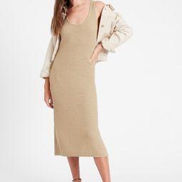 Linen-Blend Ribbed Sweater Dress   Banana Republic (US)