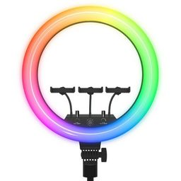 """Dixie & Charli 18"""" RGB Ring Light with DELUXE 63"""" Tripod 