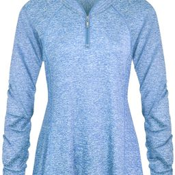 Luranee Womens Long Sleeve 1/4 Zip Pullover Athletic Hiking Running Workout Tops | Amazon (US)