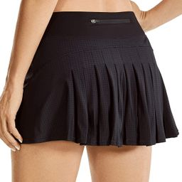 CRZ YOGA Women's Quick-Dry Athletic Tennis Skirts Volleyball Shorts Mid-Waisted Pleated Skirts Sp... | Amazon (US)
