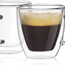 JoyJolt Savor Double Wall Insulated Glasses Espresso Mugs (Set of 2) - 5.4-Ounces | Amazon (US)