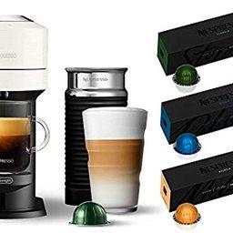 Nespresso Vertuo Next Coffee and Espresso Machine by De'Longhi, White w/Aeroccino Milk Frother, O... | Amazon (US)