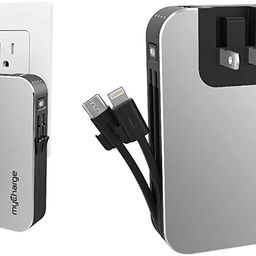 myCharge Portable Charger for iPhone – Hub 10050 mAh Internal Battery Built in Cable (Lightning... | Amazon (US)