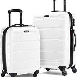 Samsonite Omni PC Hardside Expandable Luggage with Spinner Wheels, White, 2-Piece Set (20/24) | Amazon (US)