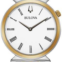 Bulova Classic Quartz Ladies Watch, Stainless Steel, Two-Tone (Model: 98L264) | Amazon (US)