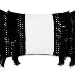 Callie Lumbar Pillow, Balck/White | One Kings Lane