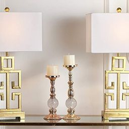 Safavieh Lighting Collection Greek Key Antique Gold 29-inch Bedroom Living Room Home Office Desk ... | Amazon (US)