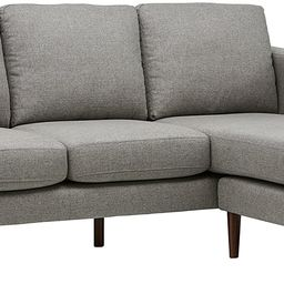 """Amazon Brand – Rivet Revolve Modern Upholstered Sofa with Reversible Sectional Chaise, 80""""W, Gr...   Amazon (US)"""
