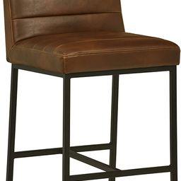 "Amazon Brand – Rivet Decatur Modern Faux Leather Kitchen Counter-Height Stool, 37""H, Dark Brown   Amazon (US)"