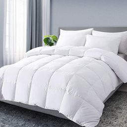 DOWNCOOL Queen Down Comforter, White Goose Duck Down and Feather Filling, Medium Warmth All Seaso...   Amazon (US)