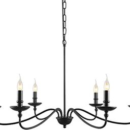 """SEOL-Light 36""""Dia Classic Candelabra Style Large Branch Iron Chandeliers Ceiling Hanging Pendant ...   Amazon (US)"""