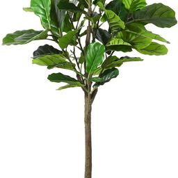 Fopamtri Artificial Fiddle Leaf Fig Tree 5.3 Feet Fake Ficus Lyrata Plant with 57 Leaves Feaux Pl...   Amazon (US)